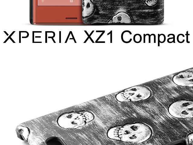 Sony Xperia XZ1 Compact Embossed Skull Back Case