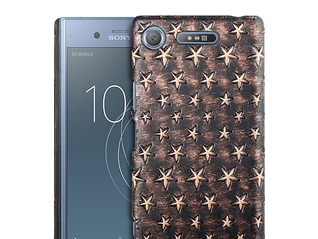 Sony Xperia XZ1 Embossed Star Back Case