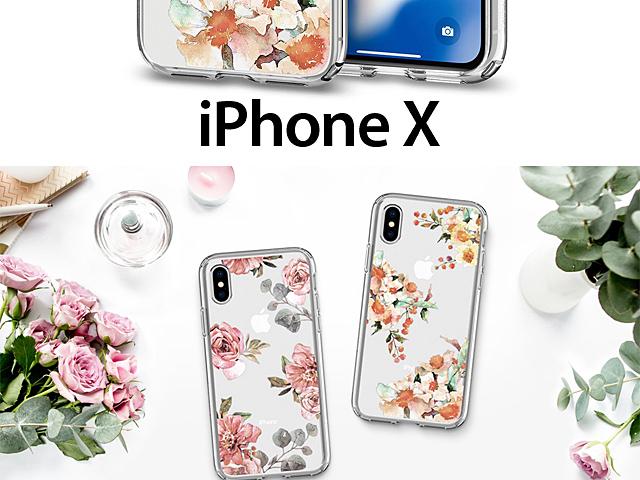 detailing e66ee 53e1f Spigen Liquid Crystal Aquarelle Soft Case for iPhone X