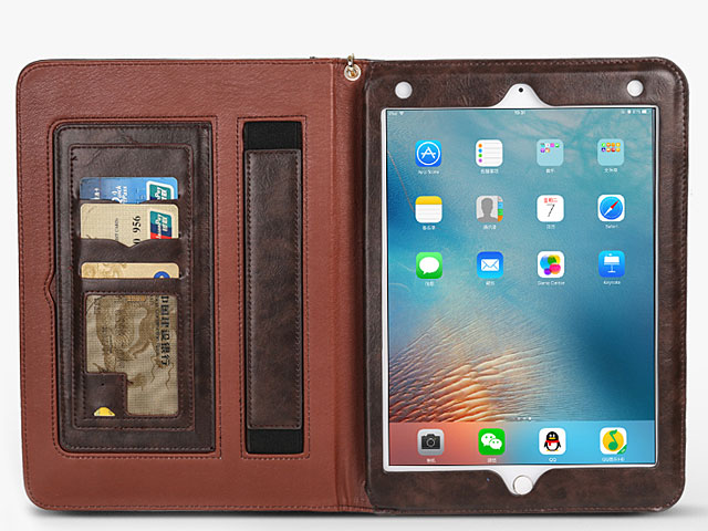 iPad 9.7 (2018) Leather Wallet Case