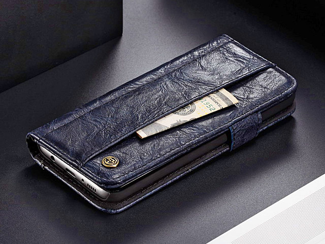 Samsung Galaxy S9 Coarse Crack Slim Wallet Leather Case