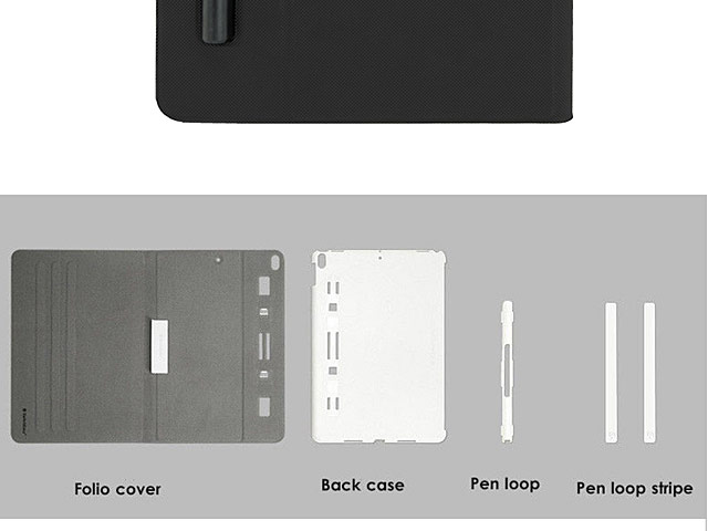 buy online 59677 95294 SwitchEasy CoverBuddy Folio Pencil Holder Back Case for iPad Pro 10.5