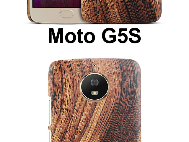 Motorola Moto G5S Woody Patterned Back Case