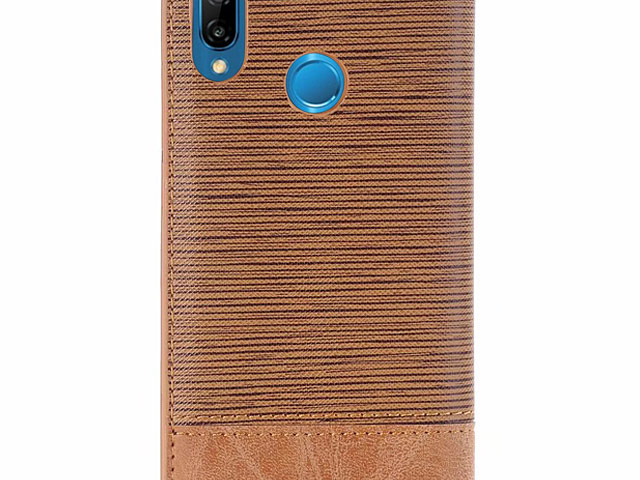Huawei P20 Lite Two-Tone Leather Flip Case