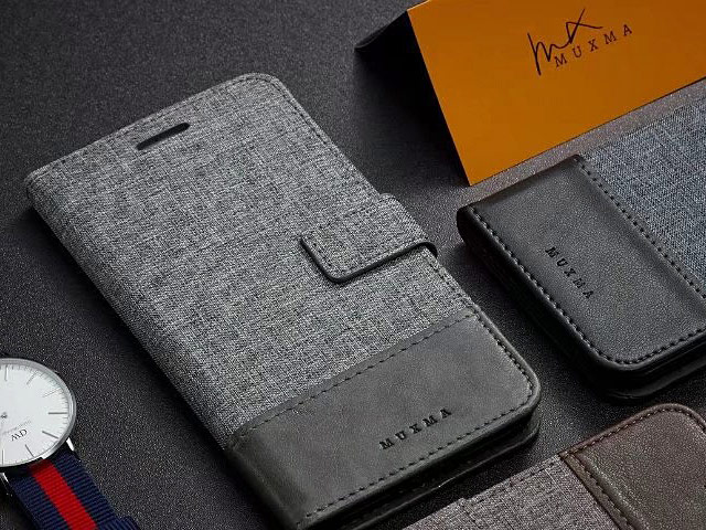 Huawei P20 Pro Canvas Leather Flip Card Case
