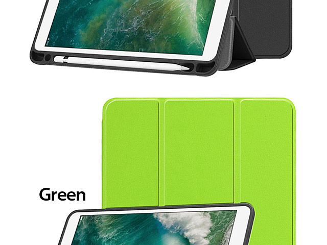 iPad 9.7 (2018) Flip Soft Back Case with Pencil Holder