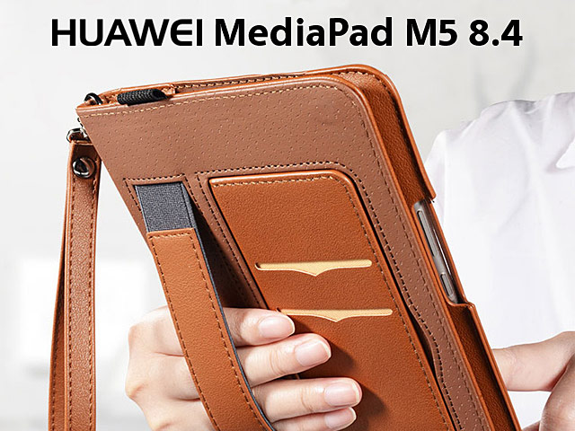 finest selection 110b5 0cd69 Huawei MediaPad M5 8.4 Leather Wallet Case