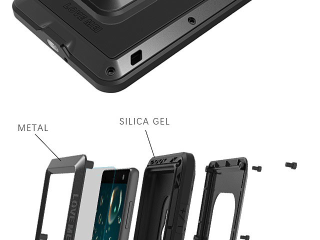 LOVE MEI Sony Xperia XZ2 Powerful Bumper Case