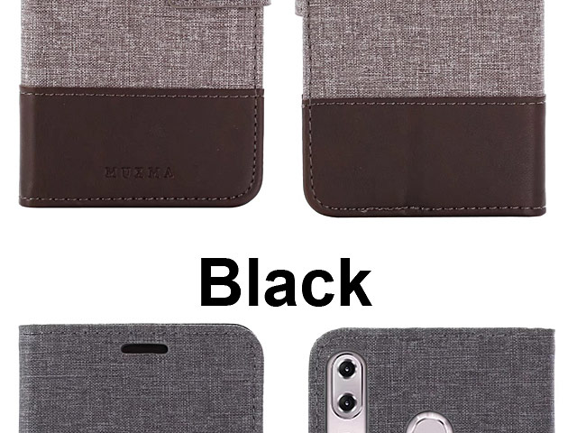 Asus Zenfone 5 ZE620KL Canvas Leather Flip Card Case