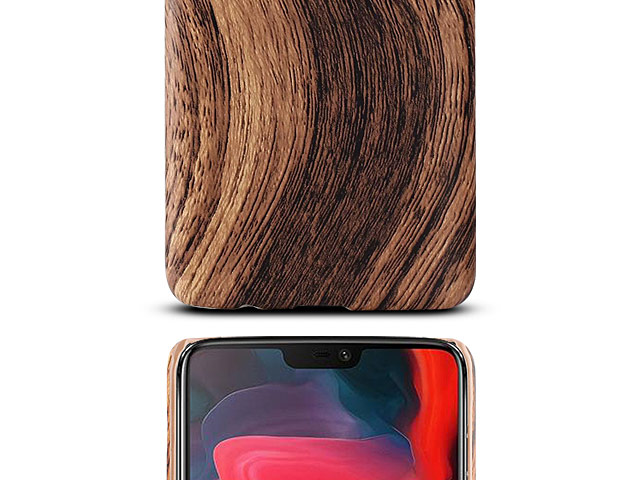 OnePlus 6 Woody Patterned Back Case