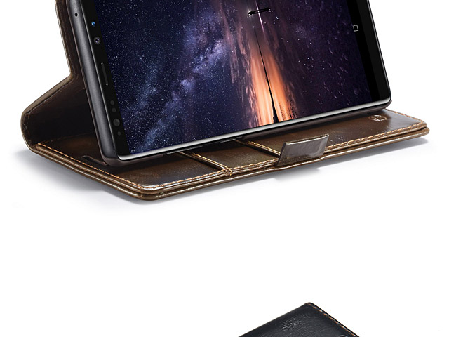 Samsung Galaxy Note9 Magnetic Flip Leather Wallet Case