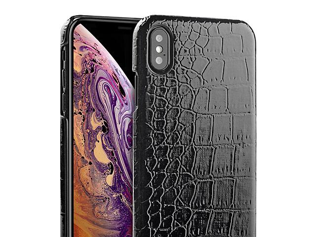 innovative design e8fa0 5e9fa iPhone XS Max (6.5) Crocodile Leather Back Case