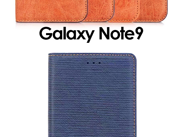 Samsung Galaxy Note9 Two-Tone Leather Flip Case
