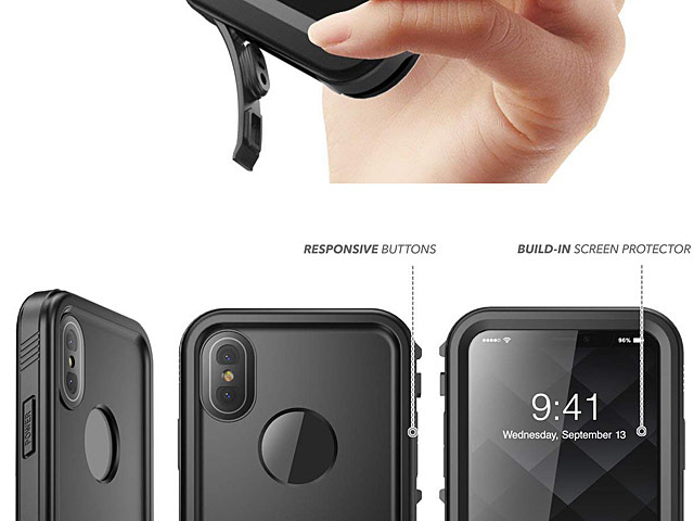 Clayco Omni Waterproof Case with Screen Protector for iPhone XS Max (6.5)