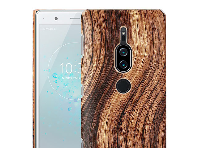 Sony Xperia XZ2 Premium Woody Patterned Back Case