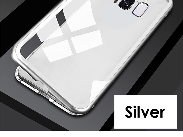 Samsung Galaxy S8 Magnetic Aluminum Case with Tempered Glass