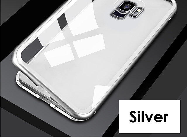 Samsung Galaxy S9 Magnetic Aluminum Case with Tempered Glass