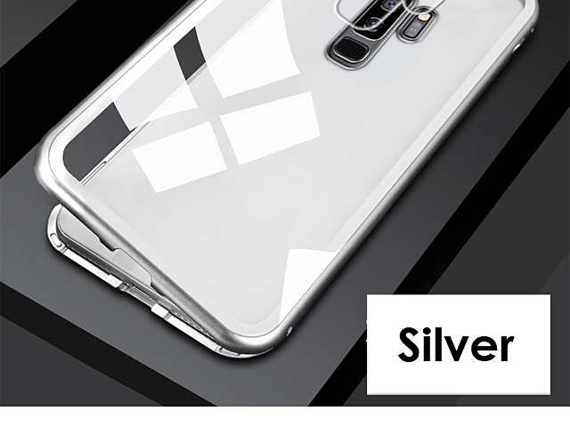 Samsung Galaxy S9+ Magnetic Aluminum Case with Tempered Glass