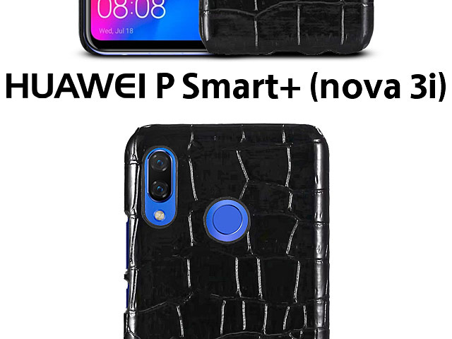 Huawei P Smart+ (nova 3i) Crocodile Leather Back Case
