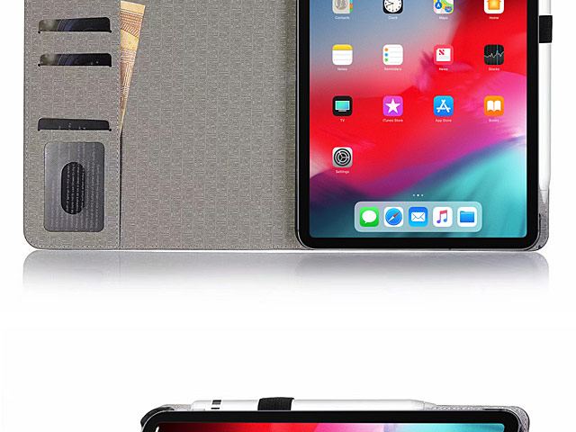iPad Pro 12.9 (2018) Two-Tone Leather Flip Case