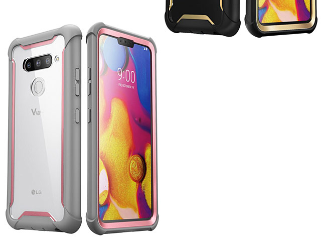 i-Blason Ares Clear Case with Screen Protector for LG V40 ThinQ