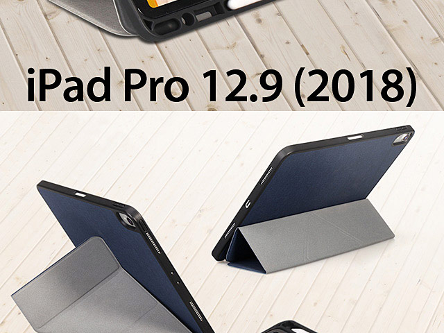 Momax Flip Cover Case with Apple Pencil Holder for iPad Pro 12.9 (2018)
