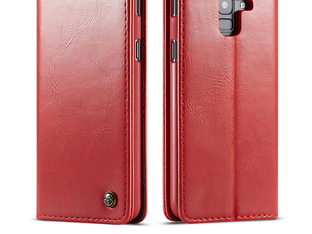 Samsung Galaxy J6 (2018) Magnetic Flip Leather Wallet Case