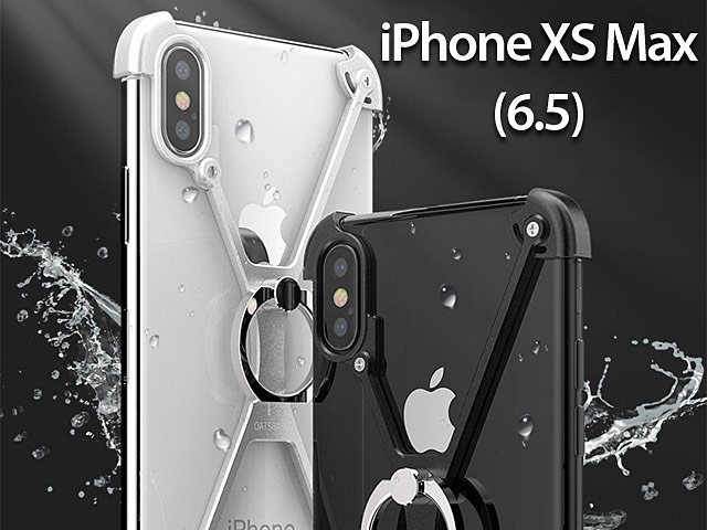 iPhone XS Max (6.5) Metal X Bumper Case with Finger Ring