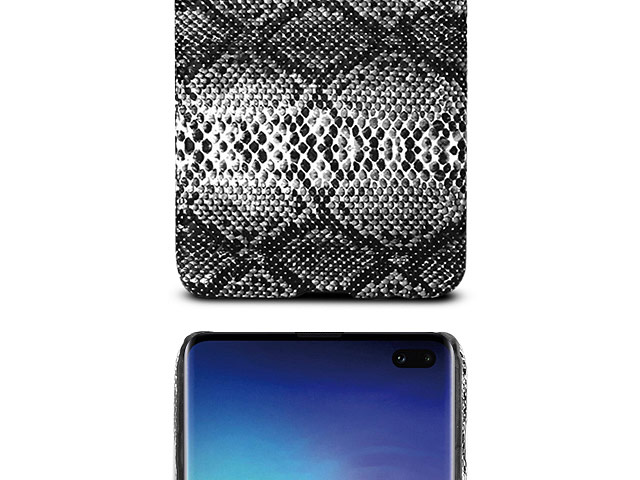 Samsung Galaxy S10+ Faux Snake Skin Back Case
