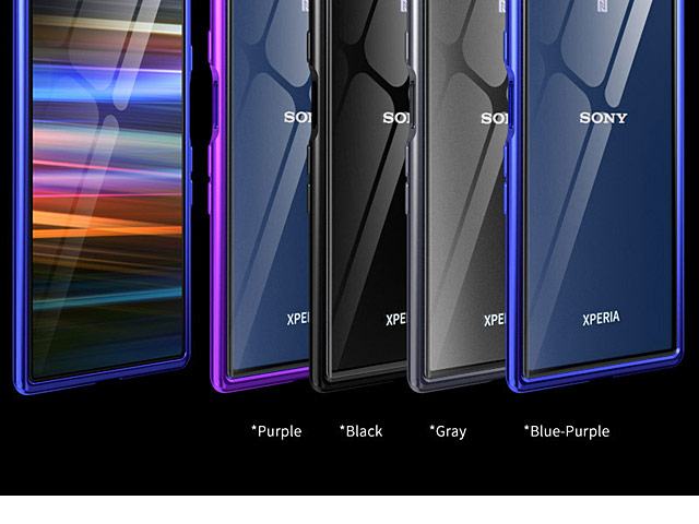 Sony Xperia 10 Plus Metallic Bumper Glass Case