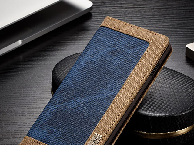 Samsung Galaxy S10+ Jeans Leather Wallet Case