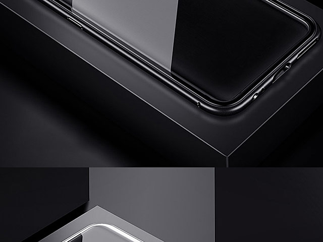 OnePlus 6T Magnetic Aluminum Case with Tempered Glass