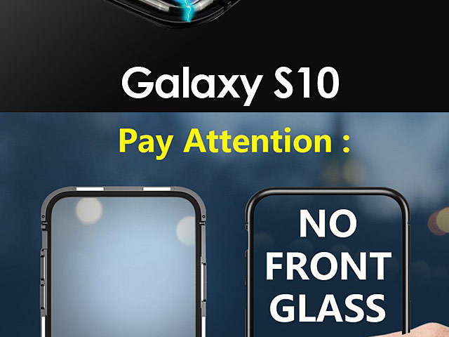Samsung Galaxy S10 Magnetic Aluminum Case with Tempered Glass