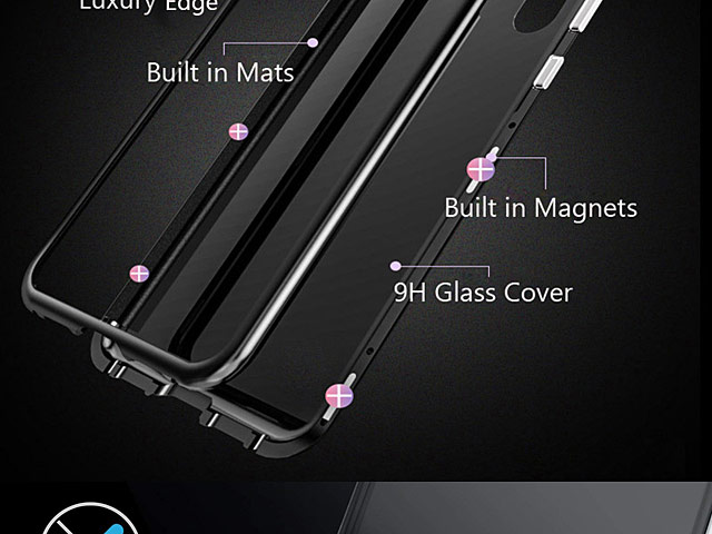 Samsung Galaxy S10+ Magnetic Aluminum Case with Tempered Glass