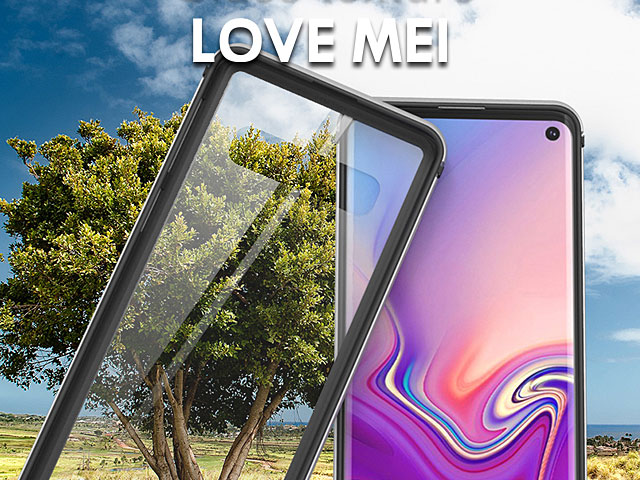 LOVE MEI Shadow Series Tempered Glass Case for Samsung Galaxy S10