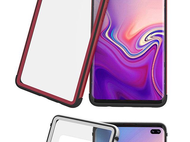 LOVE MEI Shadow Series Tempered Glass Case for Samsung Galaxy S10+