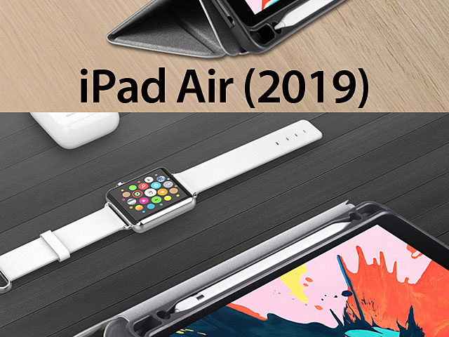 Momax Flip Cover Case with Apple Pencil Holder for iPad Air (2019)