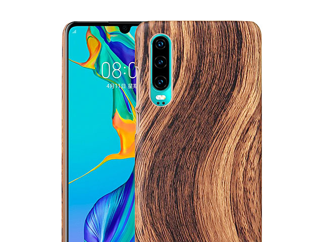 Huawei P30 Woody Patterned Back Case