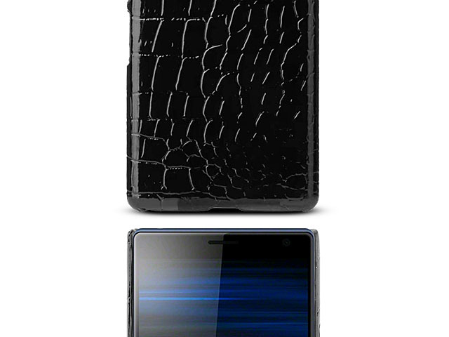 Sony Xperia 10 Plus Crocodile Leather Back Case