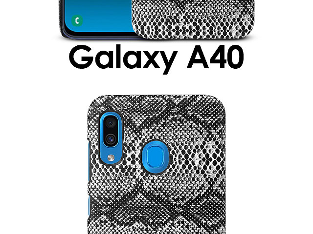Samsung Galaxy A40 Faux Snake Skin Back Case