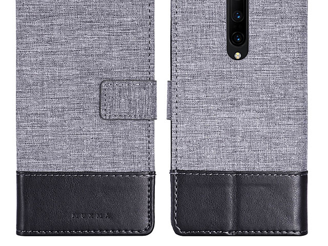 OnePlus 7 Pro Canvas Leather Flip Card Case