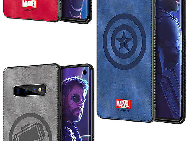 Marvel Series Fabric TPU Case for Samsung Galaxy S10