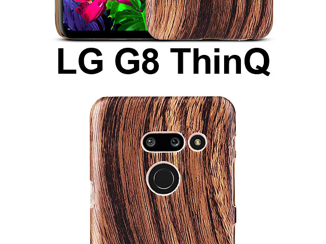 LG G8 ThinQ Woody Patterned Back Case