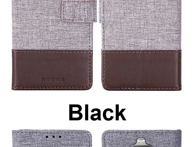Sony Xperia 10 Canvas Leather Flip Card Case