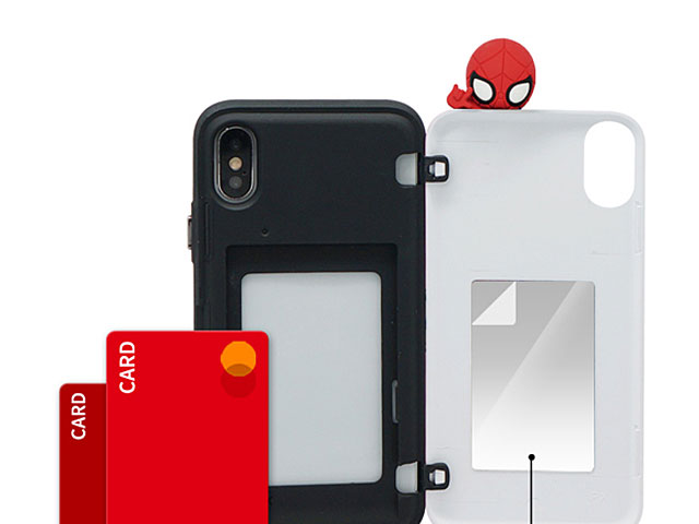 3D Spider-Man Series Mirror Card Case for iPhone XS Max (6.5)