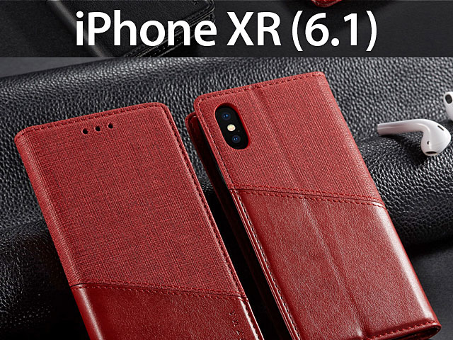iPhone XR (6.1) Canvas Flip Card Case
