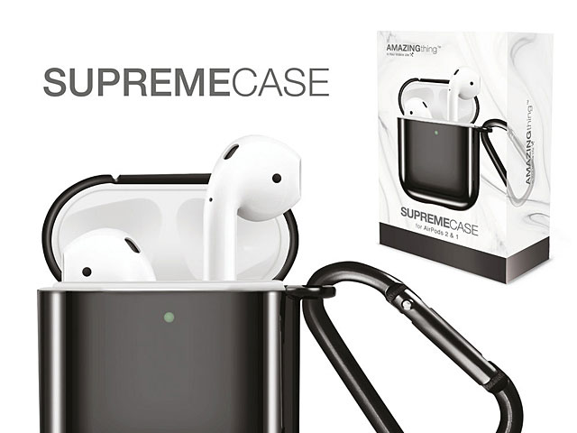 Amazingthing Supreme Solid Mirror Case for AirPods - Black