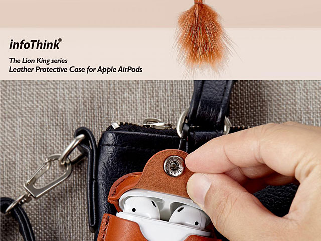 infoThink The Lion King Series - Leather Case for AirPods