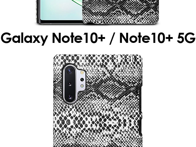 Samsung Galaxy Note10+ / Note10+ 5G Faux Snake Skin Back Case