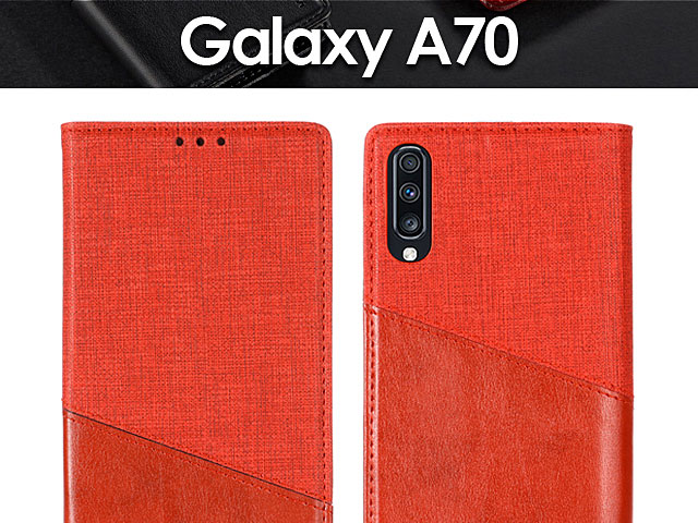 Samsung Galaxy A70 Canvas Flip Card Case